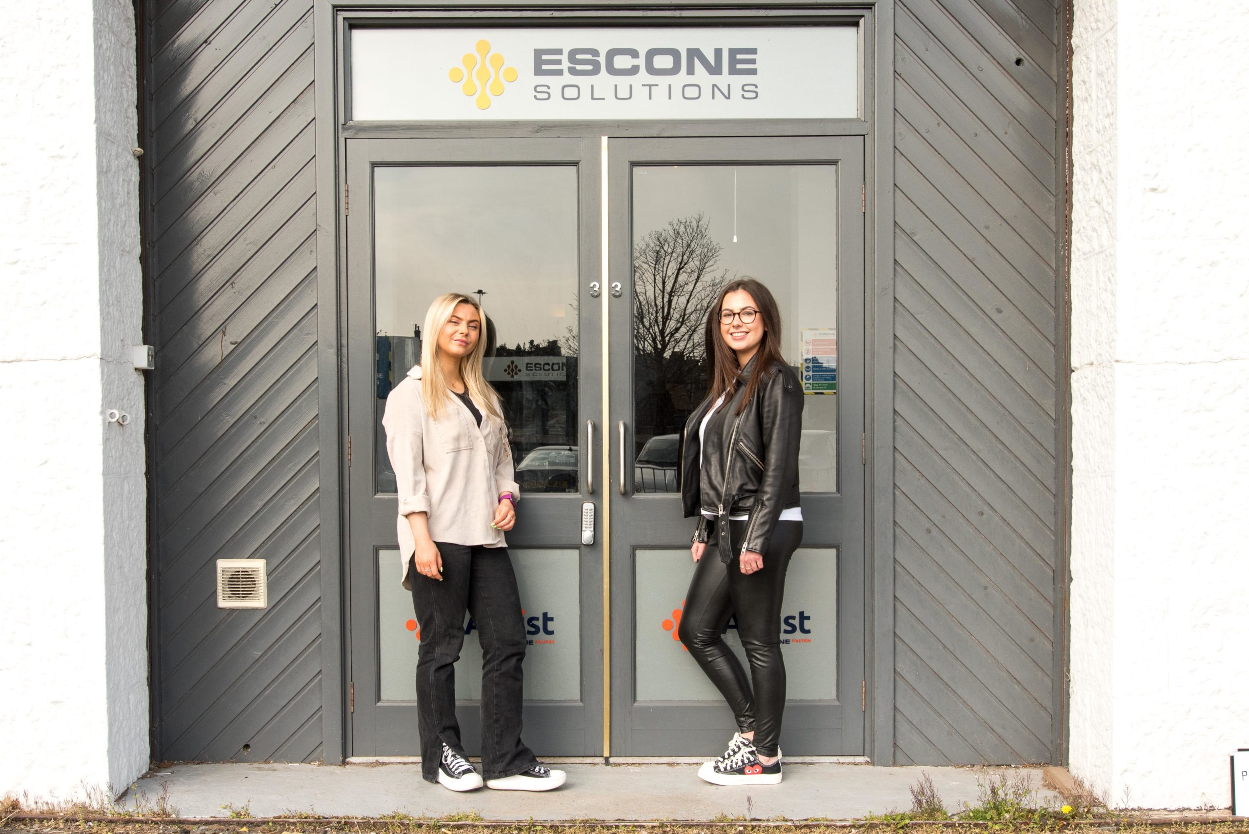 placement students outside Escone Office