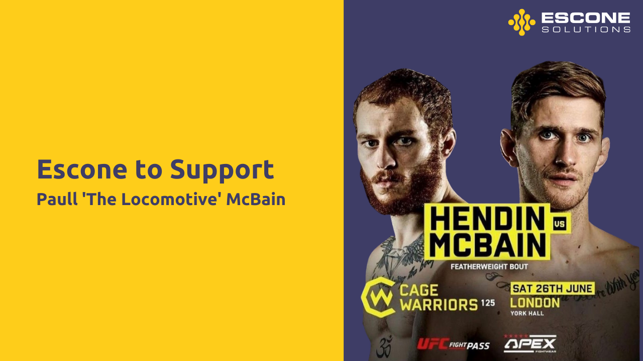 Escone Become Main Sponsor of Returning Cage Warriors Athlete